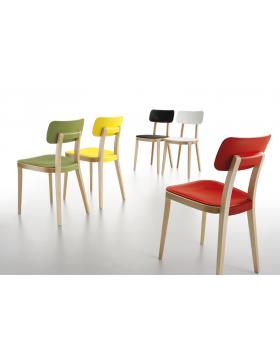Sedie In Ecopelle Colorate.Sedia Infiniti Impilabile Pratica Colorata E Versatile Con Telaio