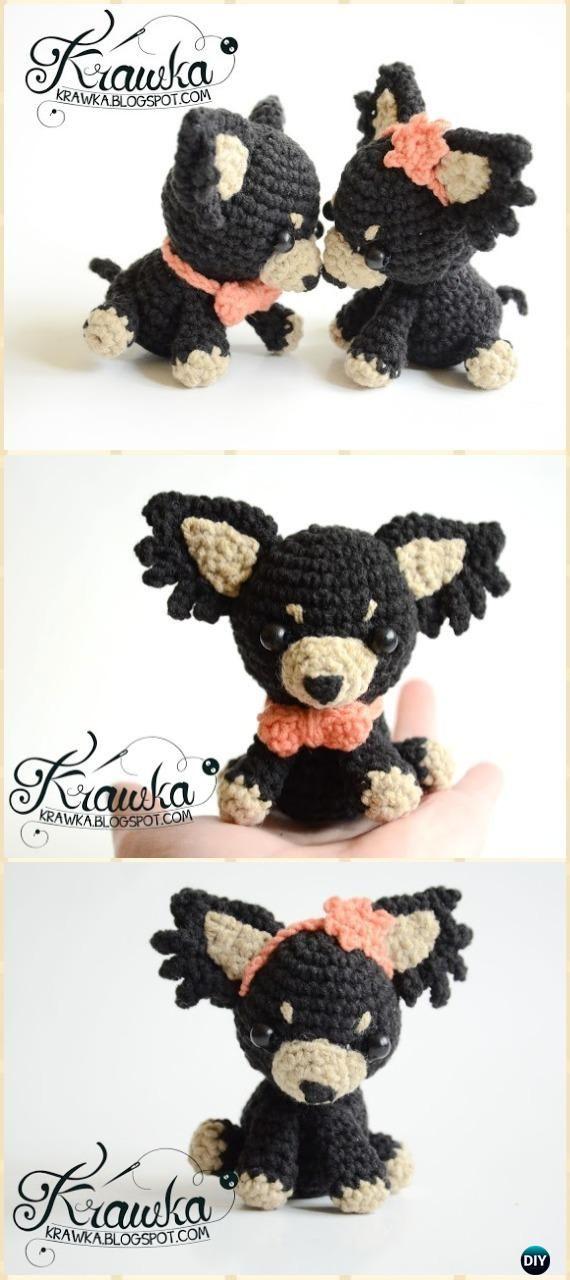 Crochet Wedding Dogs Amigurumi Free Pattern - Amigurumi Puppy Dog ...