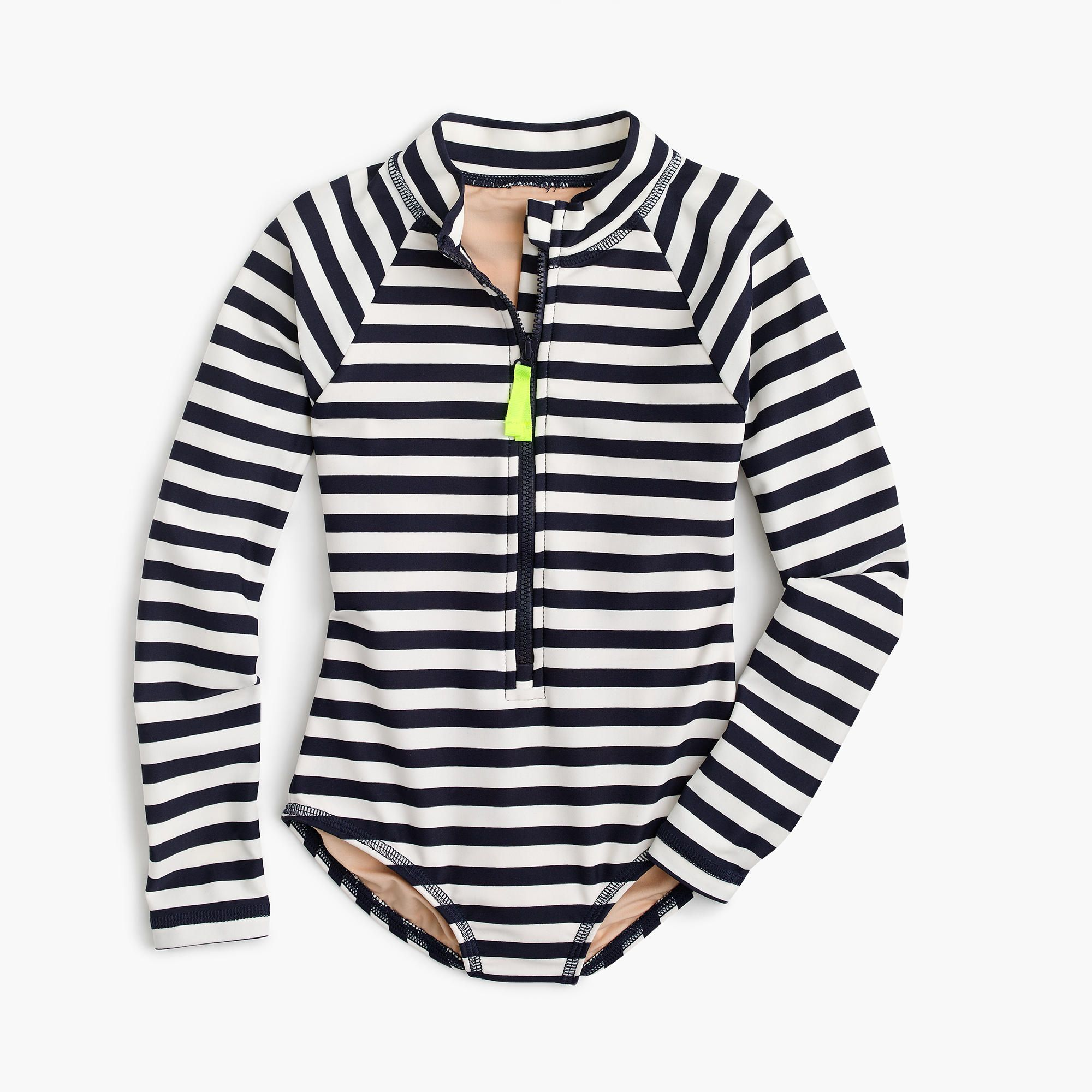 adcb809754693 A rash guard and a one piece all in one! Pair it with some board shorts and  your girl is ready to surf! From J.Crew sizes 3-14