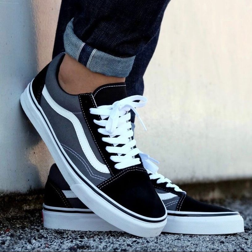 OLD SKOOL pewter black VANS | Chaussure skate, Chaussures