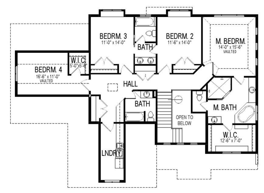Plano de casa bonita de dos pisos planos para casas - Casas para familias numerosas ...