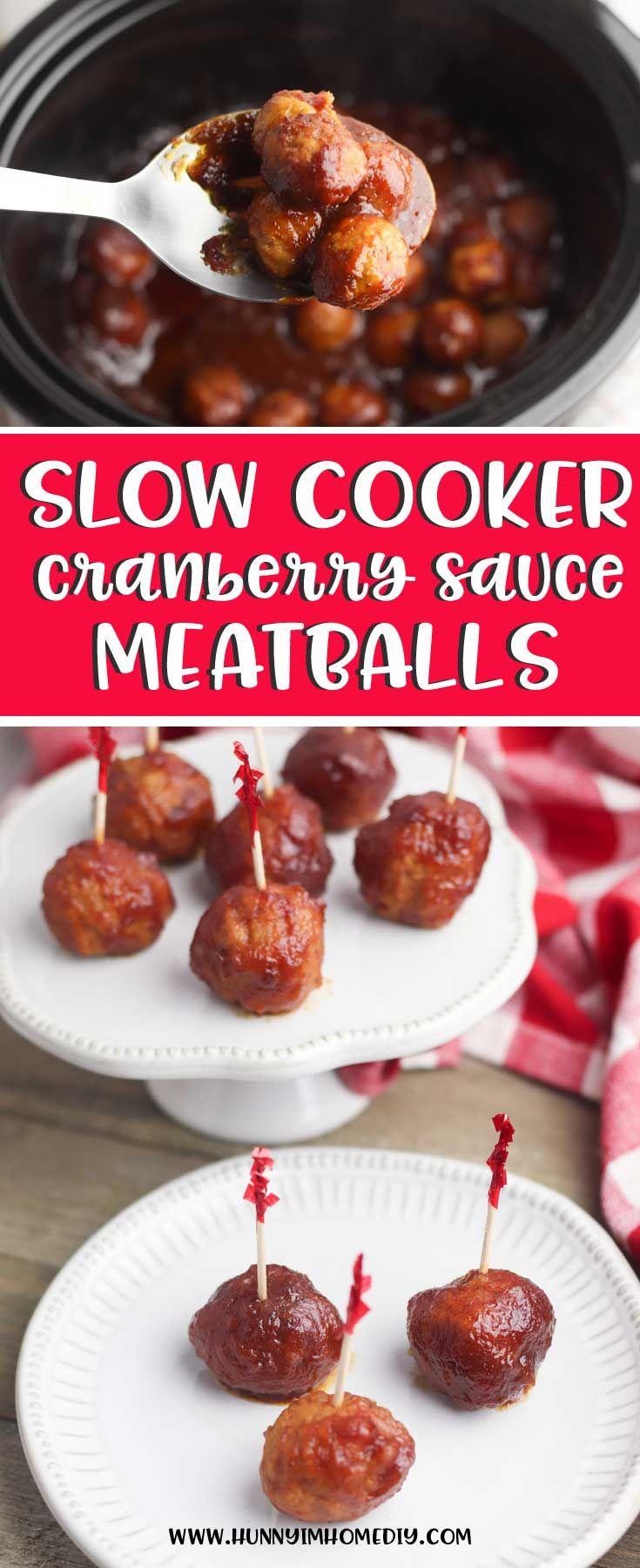 Simple Three-Ingredient Cranberry Sauce Meatballs #gamedayfood
