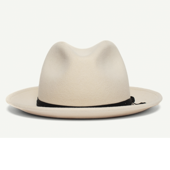 Men/'s Stetson Fedora Cream and Brown Check Design Size Large
