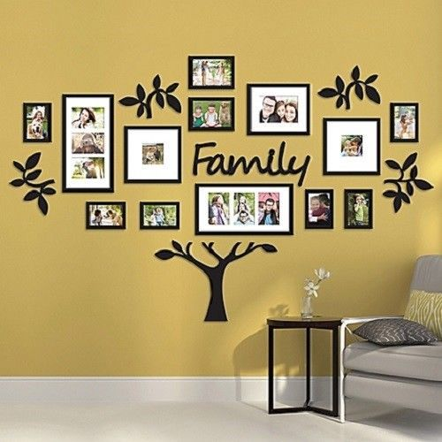 Picture Frame Wedding Photo Collage Family Tree Wall Verb Art Sign ...