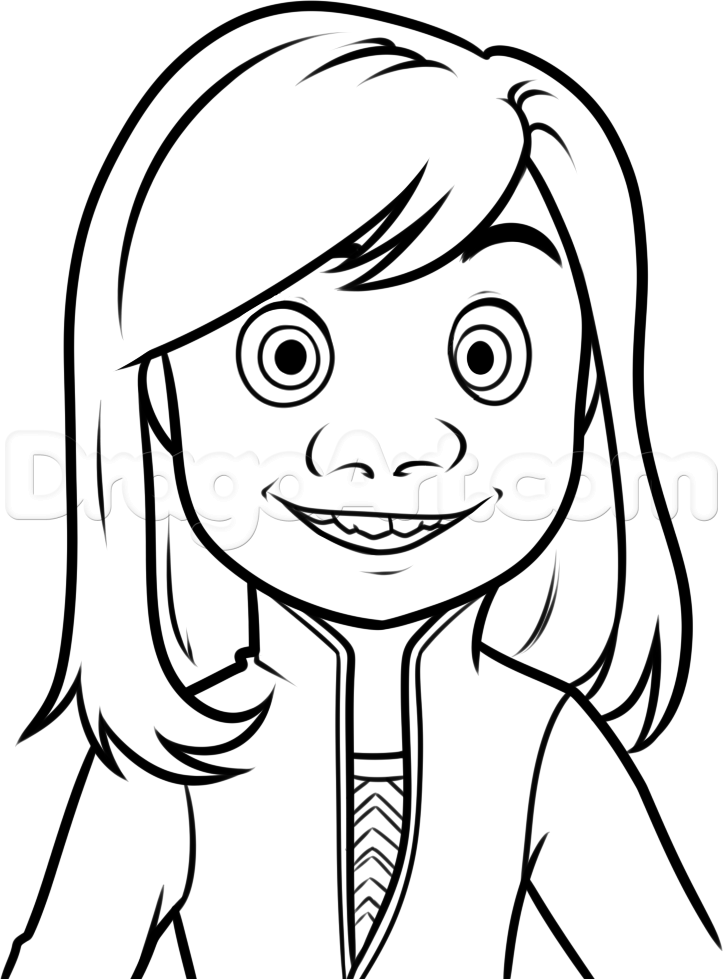 how to draw riley from inside out step 8 | Coloring Pages * Disney ...