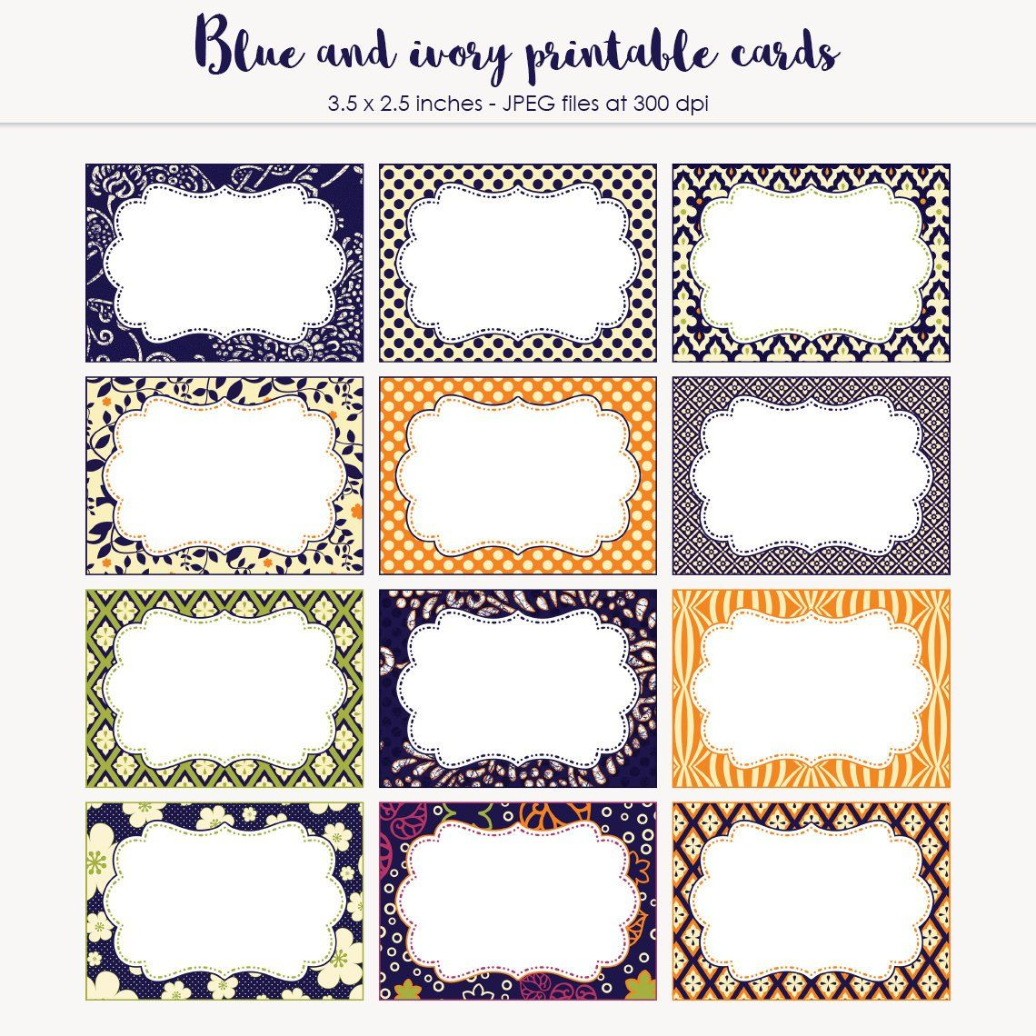 Candy Buffet Label Place Cards 3 5 X 2 5 Cards Printable Etsy Printable Cards Etsy Printables Candy Buffet Labels