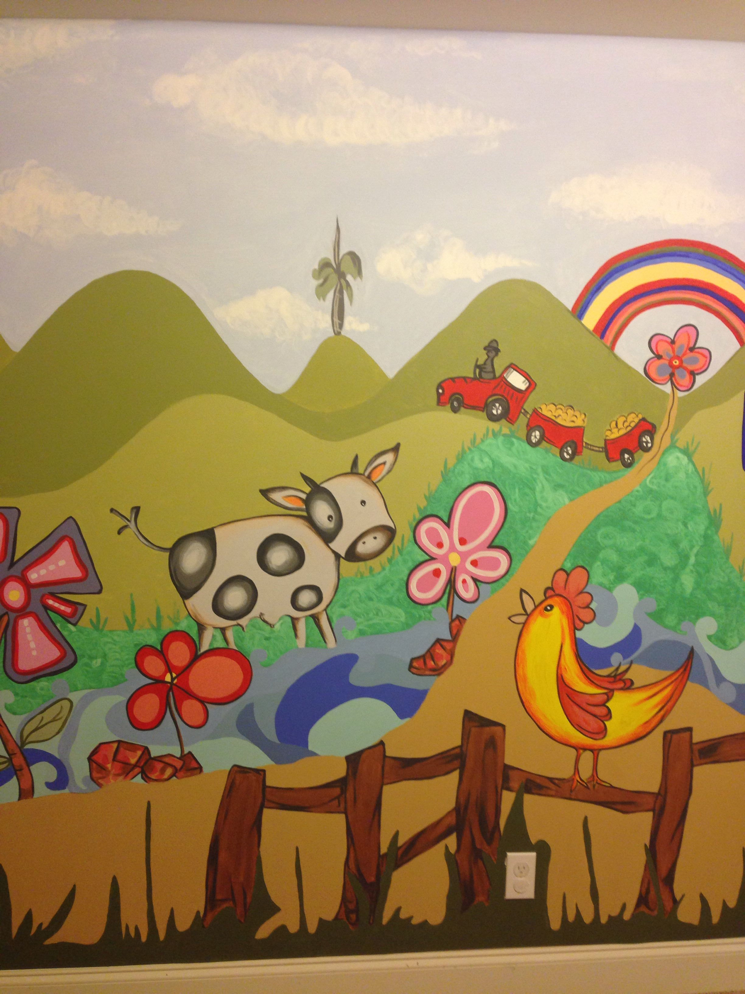 Kids mural | School | Pinterest