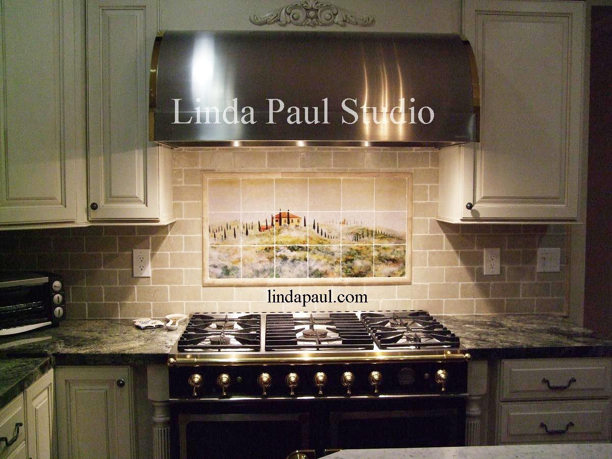 Mural Tiles For Kitchen Decor Tuscan Tile Murals Kitchen Backsplashes Tuscany Art Tiles Italian