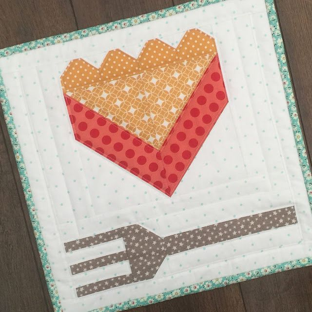 """I'm so happy to let you know that my""""HOMEMADE PIE""""PDF pattern is now availablefor download HERE Of course it comes in 2 sizes...both 6"""" and 12""""  And my """"HAPPINESS IS HOMEMADE""""block in 6"""" and 12"""" siz"""