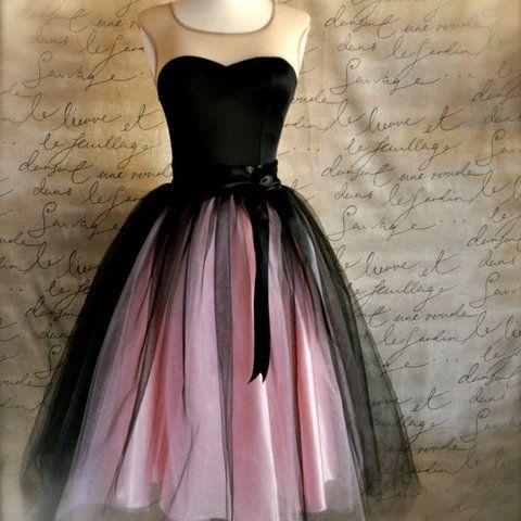 c9a496eabc Alkalmi tüll szoknya (peteryeva | Motivációim | Black, pink dress ...