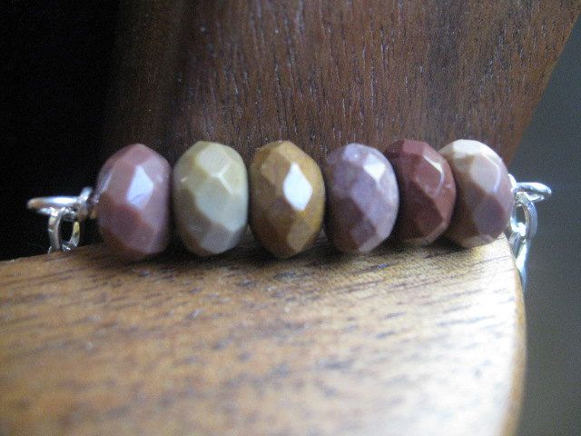 silver necklace. mookaite necklace. earthy mookaite necklace in silver. stone necklace. splurge.. $29.00, via Etsy.