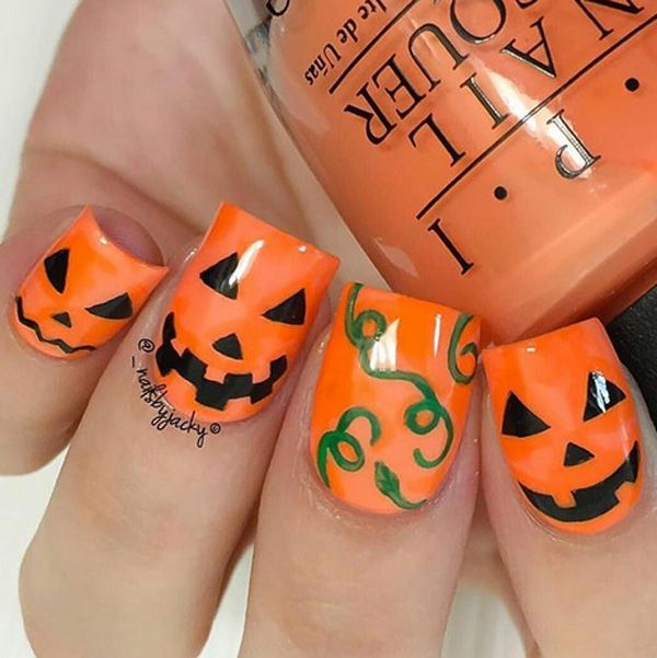 Pin by Sayde on Nail Ideas | Pumpkin nails, Halloween nail ...