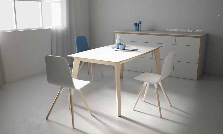 Mesa cocina nórdica Fija | tu Cocina y Baño | mesas sillas y ...