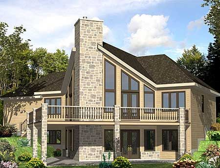 Plan 90139pd Dramatic Windows For The Sloping Lot
