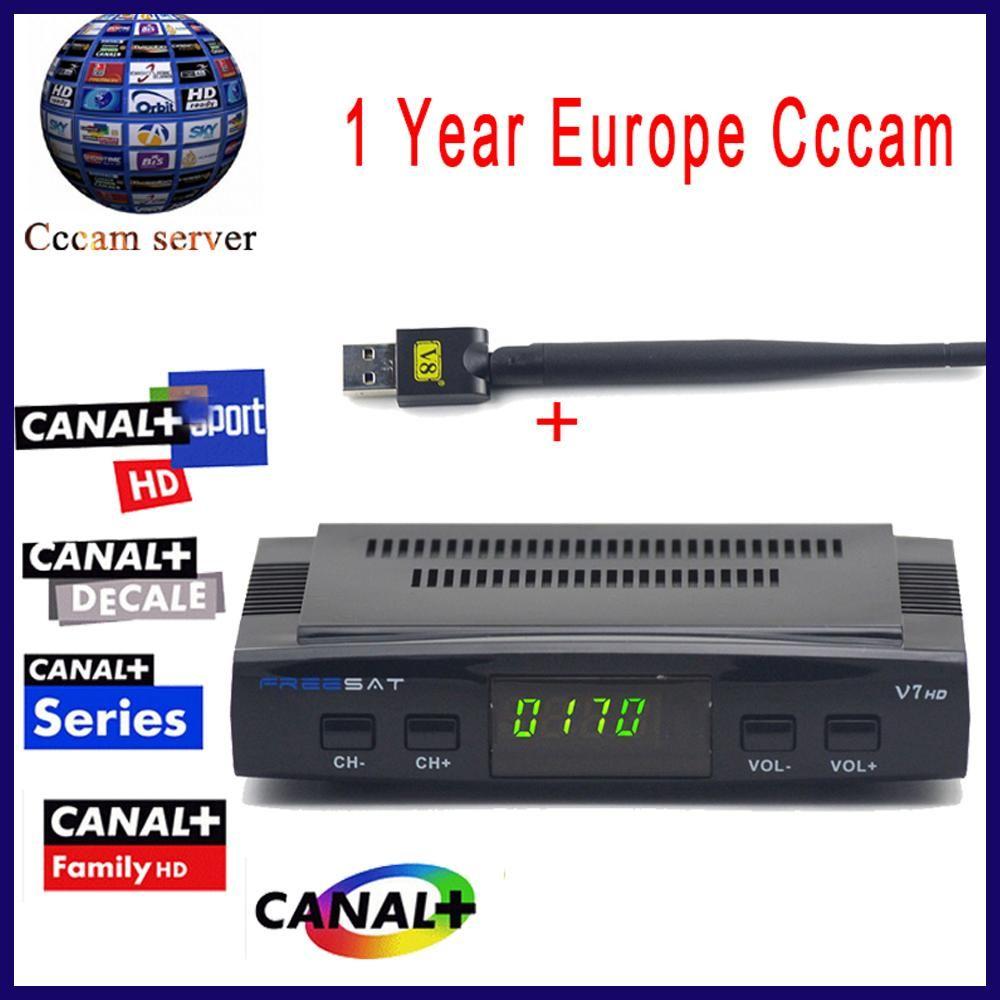 Cccam cline For 1 Year Freesat V7 HD DVB-S2 Satellite Receiver