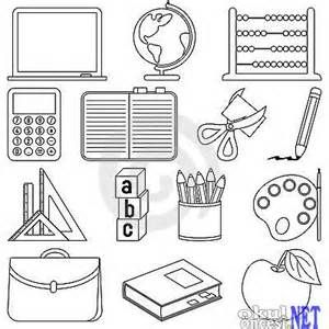 school stuff coloring pages - photo#12