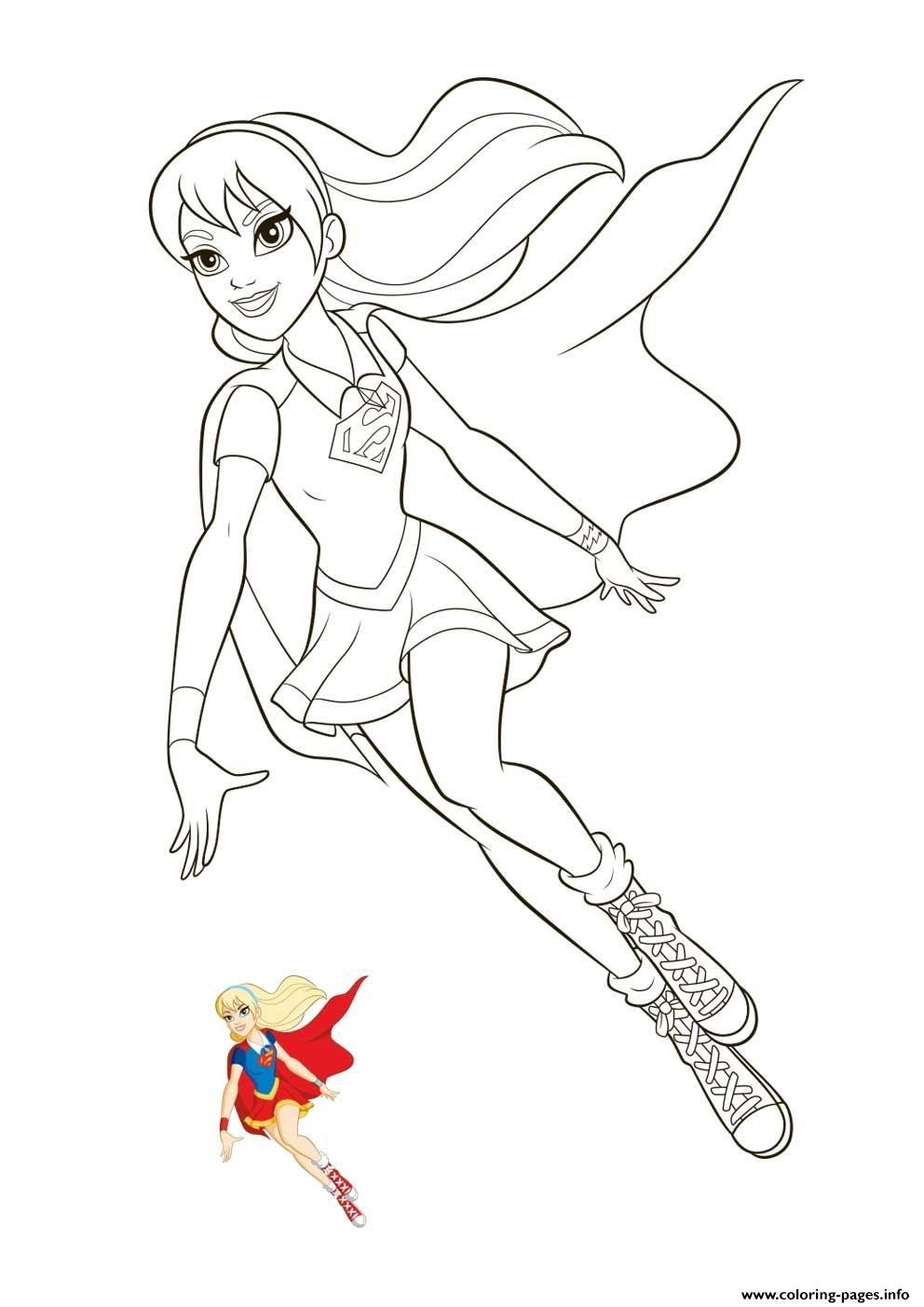 Super Hero Coloring Pages Supergirl Super Hero Girls