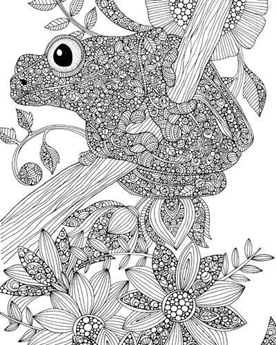 Frog Coloring Canvas Coloring Canvas Canvas Drawing Canvas Art Decor