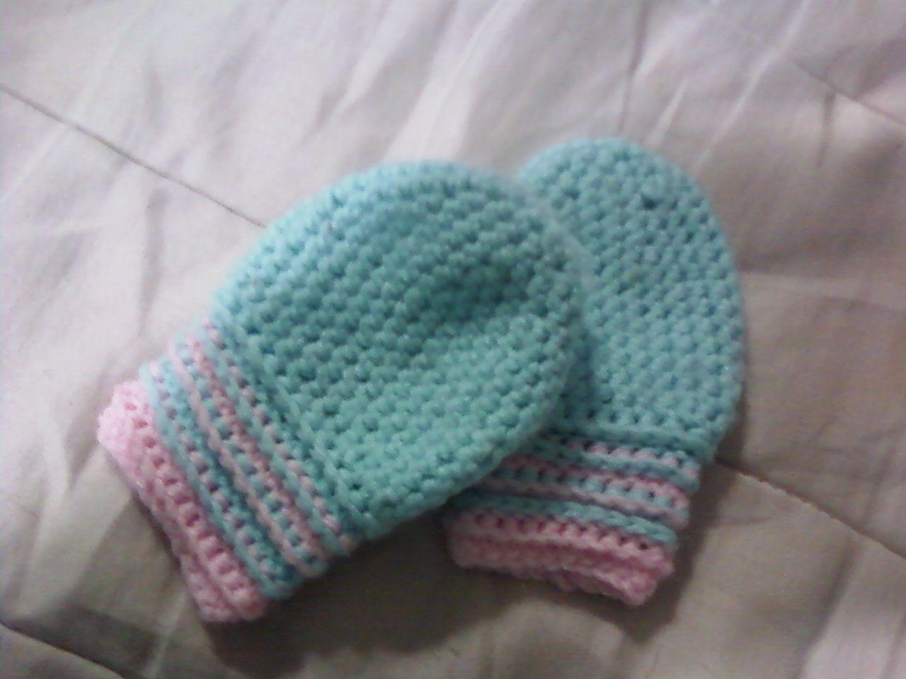 Tess\'s Patterns: Baby Mittens   crochet 2   Pinterest   Baby mittens ...