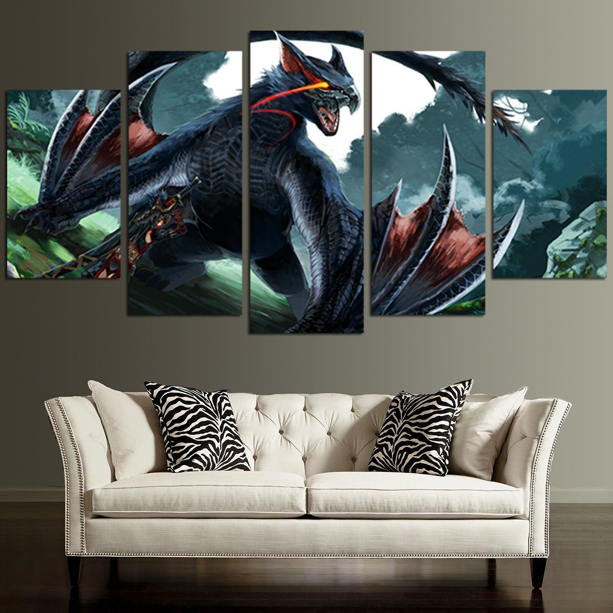Lancaster Spitfire /& Poppy  Canvas Print 20x30 inches