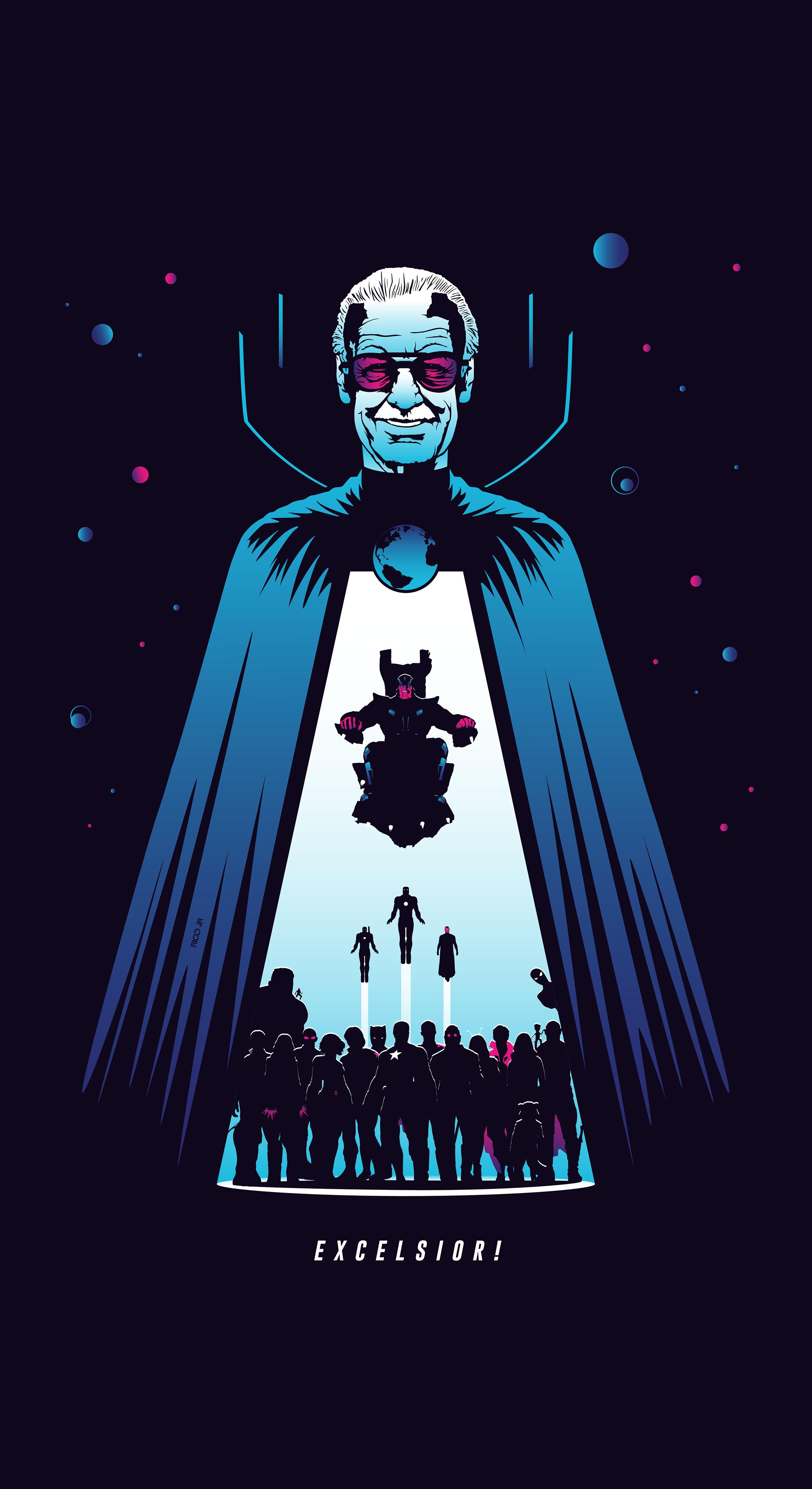 The Watcher Stan Lee Marvel Wallpaper Superhero