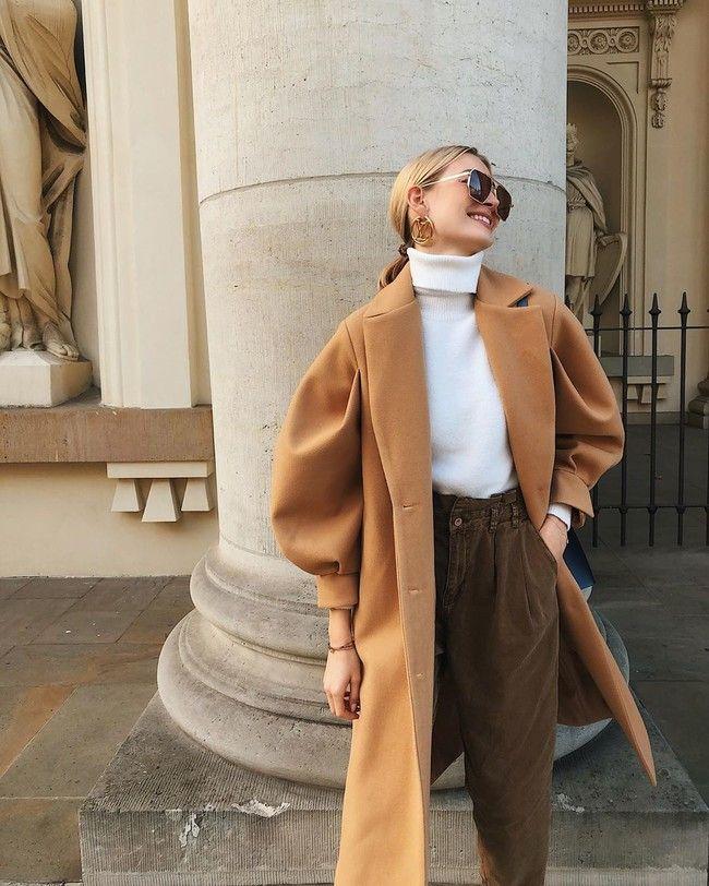 Cómo combinar un abrigo camel, la prenda estrella del street style