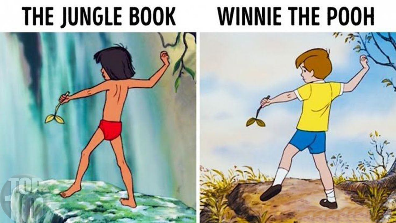 15Times Disney Cheated and Used the Same Illustrations inDifferent Cartoons
