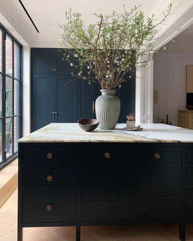 i m sure you ve noticed that navy blue kitchens have been a huge trend this past year we even on kitchen decor navy id=18405