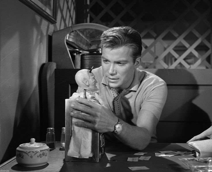 "Happy National Twilight Zone Day!William Shatner from the episode ""Nick of Time"""