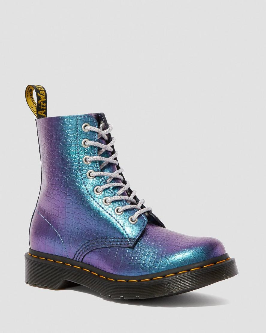 Dr martens 1460 pascal iridescent croc in 2019 | Boots, Dr