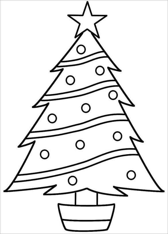 Free Printable Psd Eps Png Pdf Format Download Free Premium Templates Christmas Tree Coloring Page Christmas Tree Template Christmas Tree Drawing