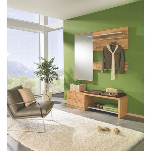 Ihre garderobe von linea natura aus vollmassiver kernbuche vorzimmer pinterest - Linea natura garderobe ...