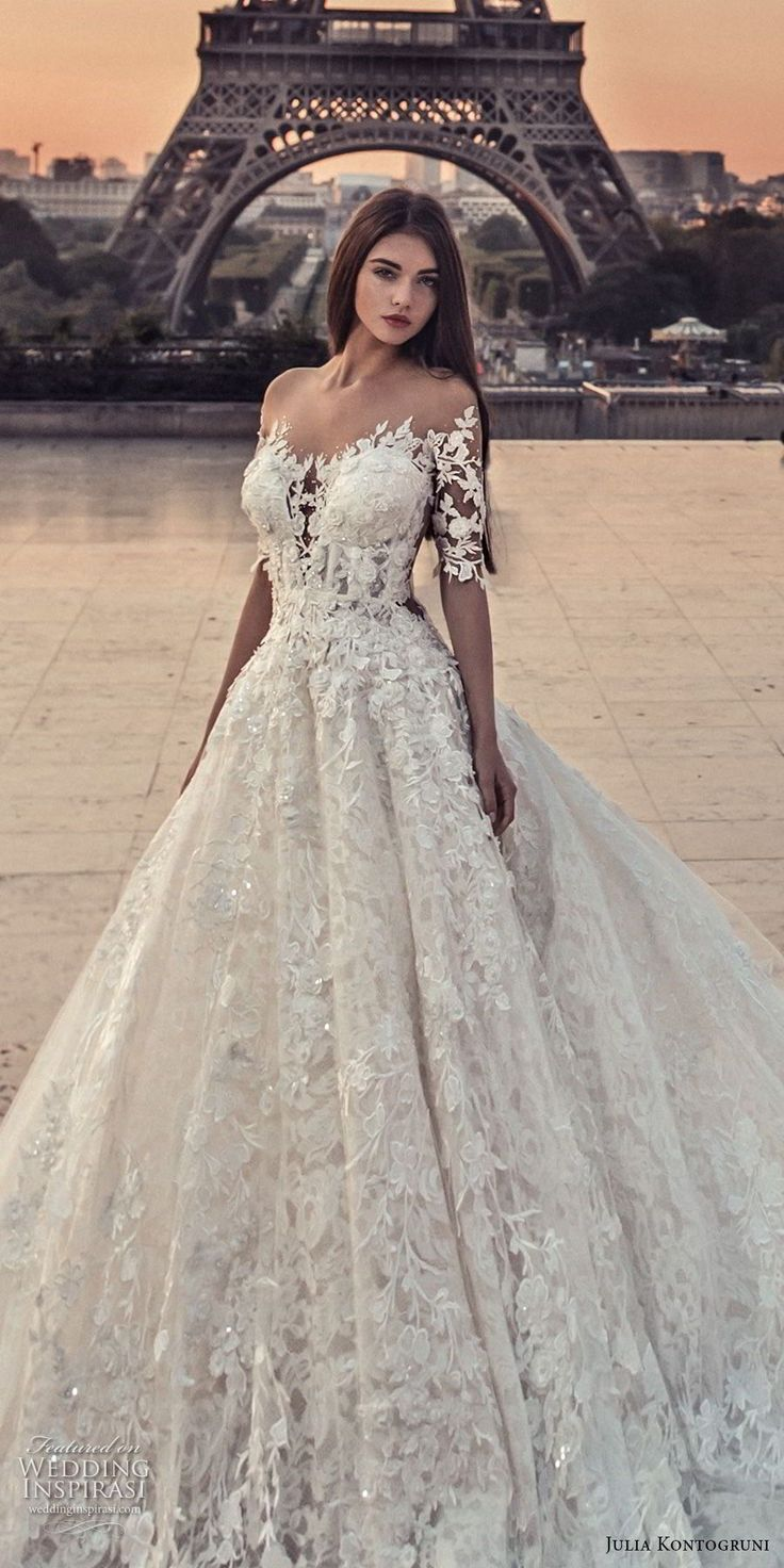 "Julia Kontogruni Wedding Dresses 2018 — ""Paris"" Bridal Collection"