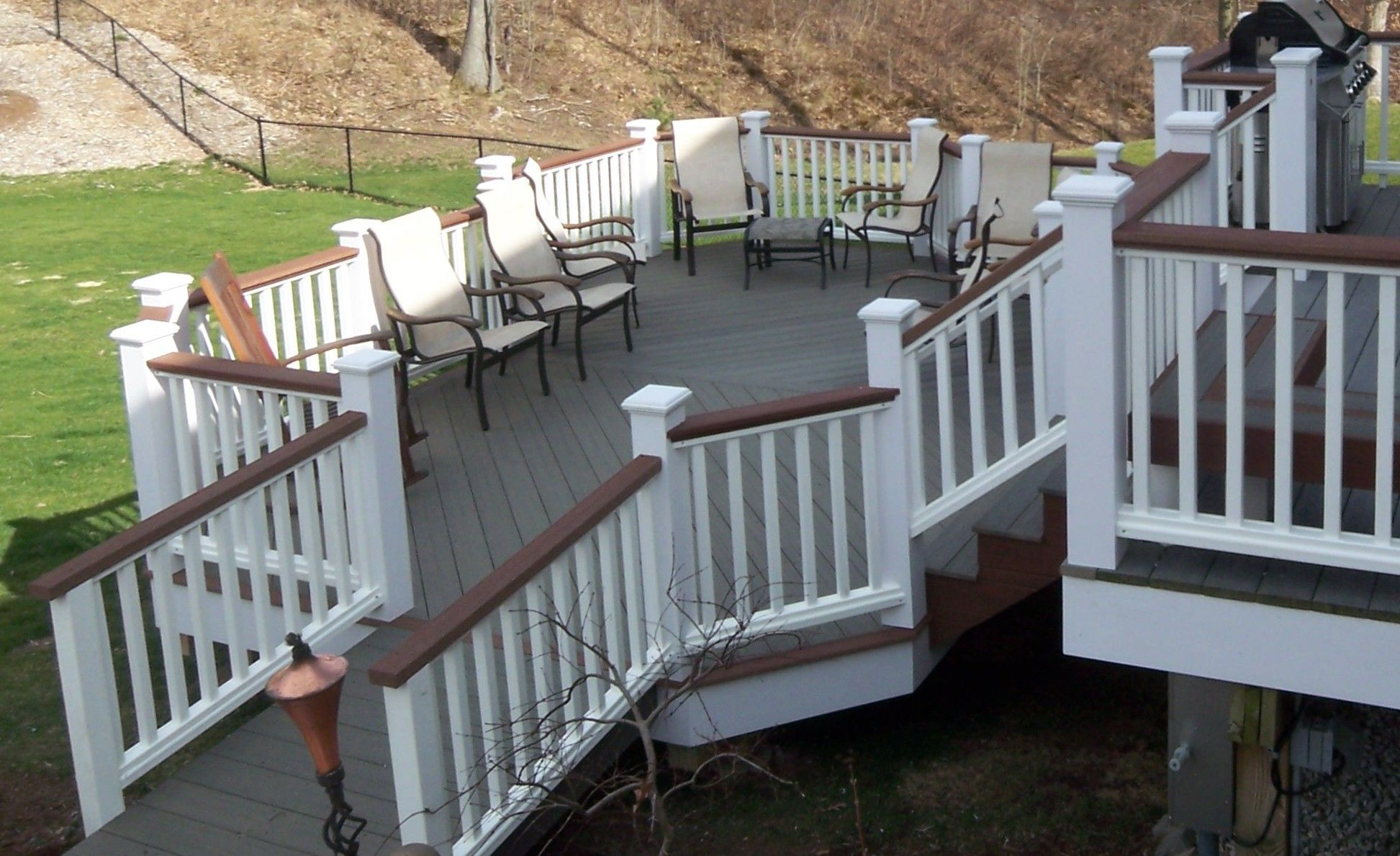 20 Insanely Cool Multi Level Deck Ideas For Your Home Trex Deck Colors Staining Deck Deck Colors