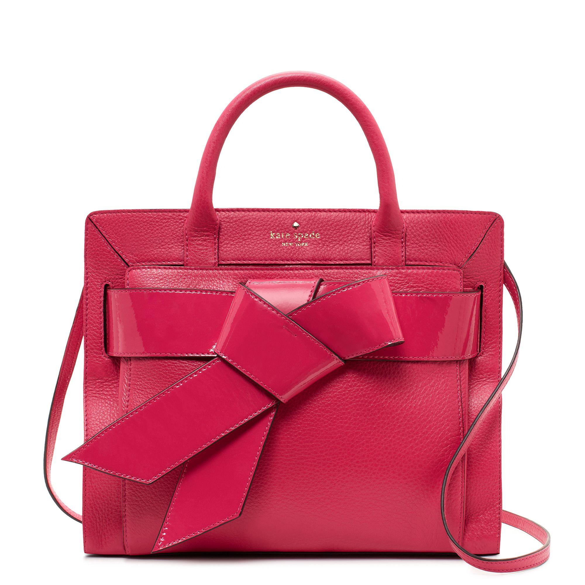 3be2612c839c Kate Spade New York Bow Valley Rosa Crossbody Satchel Handbag Red