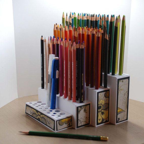 svg cut file for colored pencil organizer paper crafts. Black Bedroom Furniture Sets. Home Design Ideas