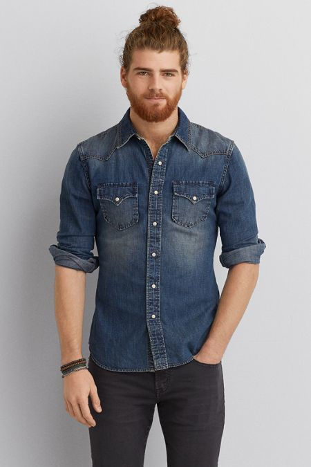 American Eagle Outfitters AEO Denim Western Vintage Shirt | Style ...