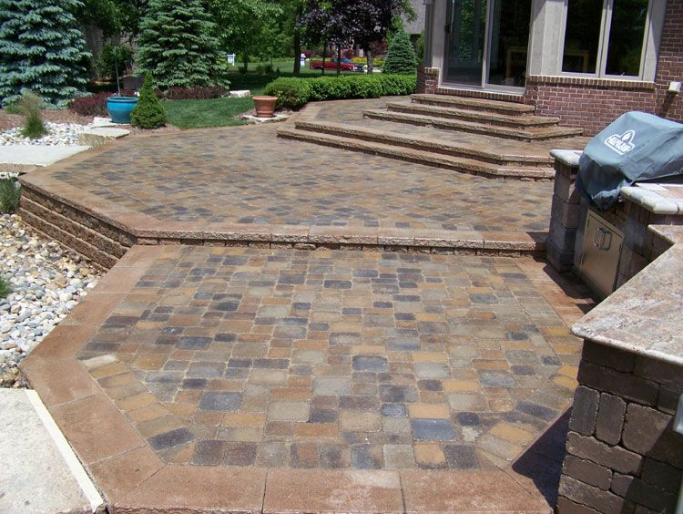 Paver Patio Designs | Brick Paver Porch Patio And Stairs