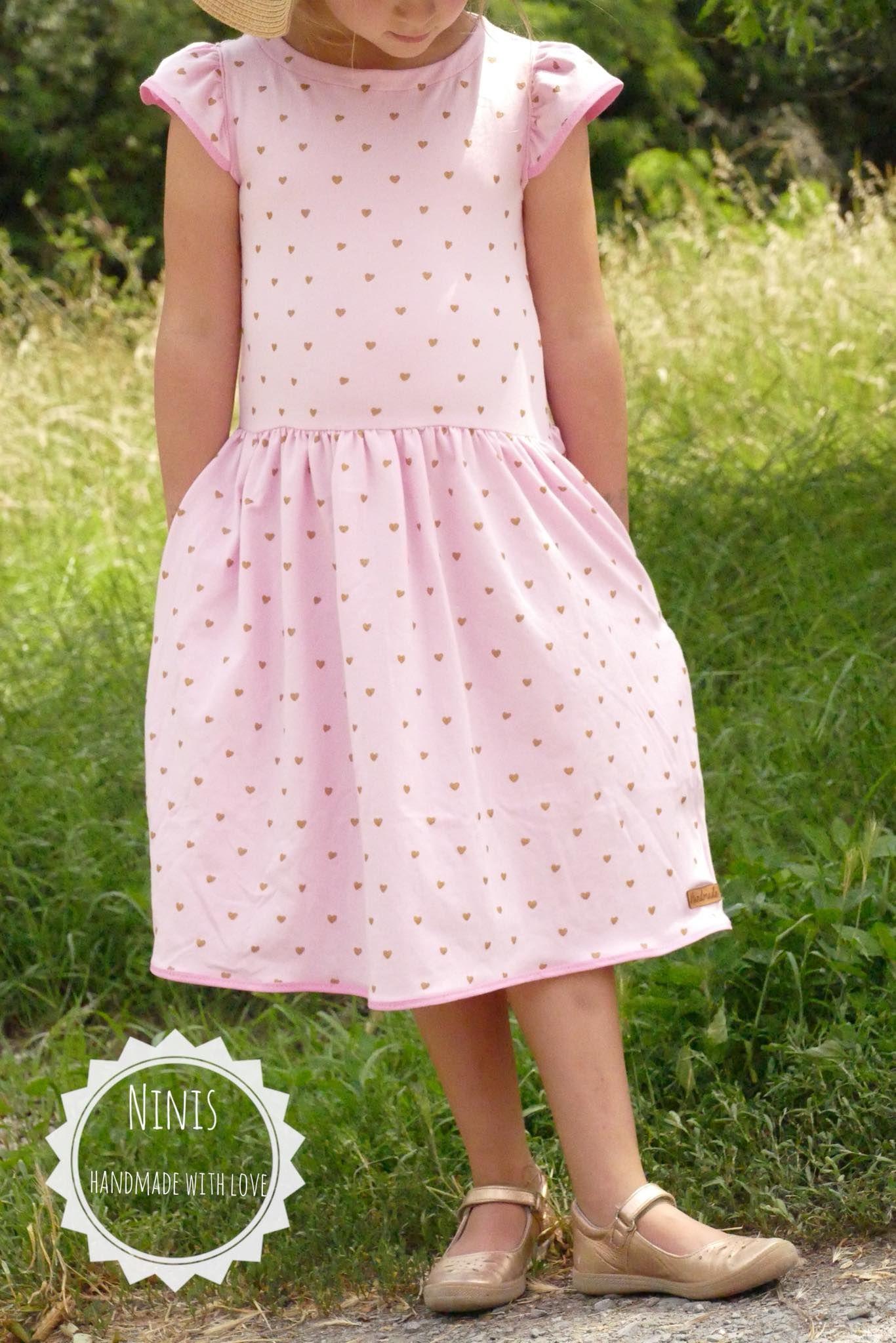 süßes Mädchenkleid nähen #sommerkleidselbernähen