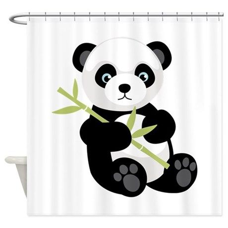 Panda Bear Shower Curtain On CafePress