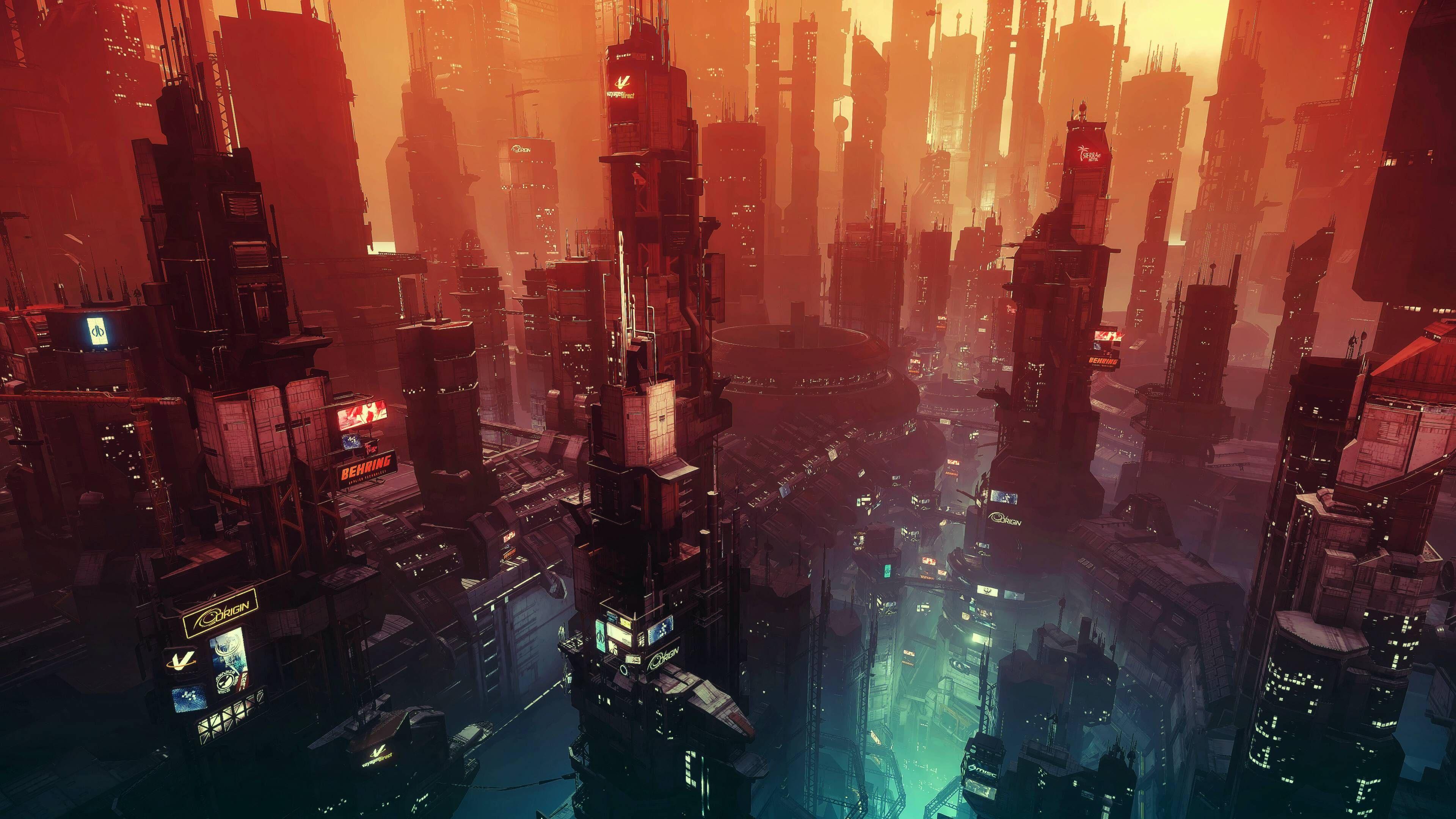 Cyberpunk Sunset [3840×2160] 4K