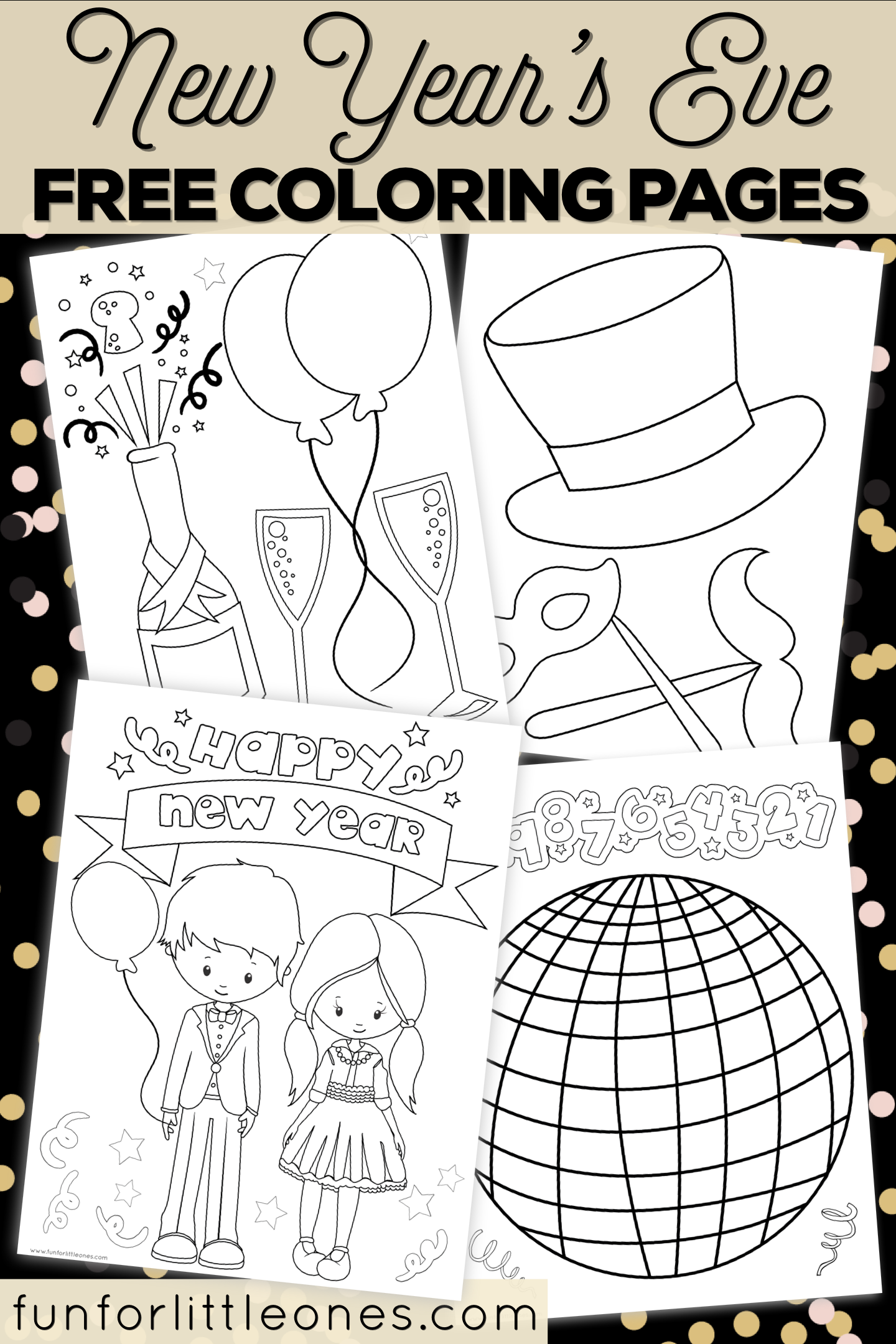 New Year S Eve Coloring Pages For Kids Free Printable