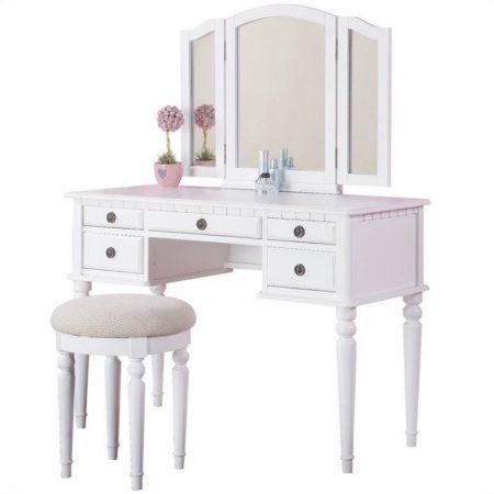 Home Mirrored Vanity Table Vanity Set White Vanity Set