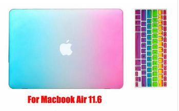 6c1647bcc33 laptop 3 in 1 Rainbow Matt Case cover+ silicone Keyboard Cover+Screen  Protector For Apple Mac Book Pro 11   12