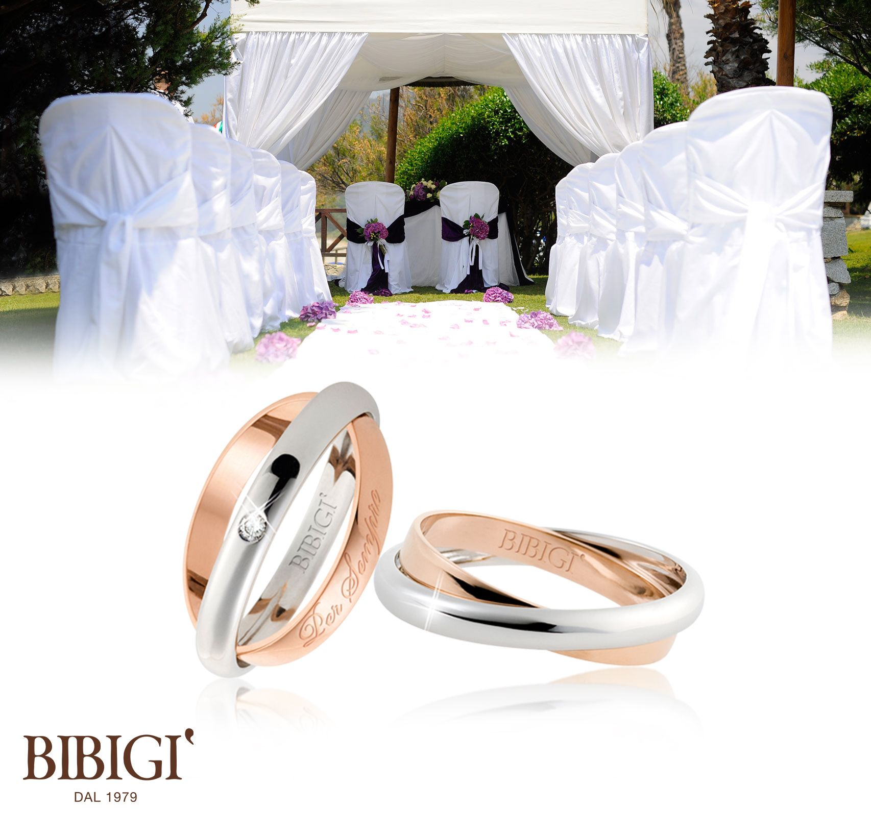 #Bibigì #weddingRing White gold ring with diamonds. A perfect mix of classic and contemporary point out the beauty.