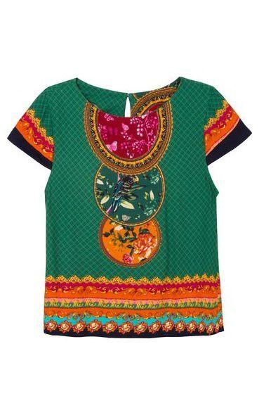 0e622512f5 Blusa realeza florida - verde