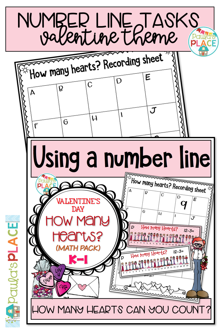 Use This Valentine Day Read The Room Task To Review Addition And Subtraction To 20 The Valentine Themed Pack M Number Line Math Valentines February Teaching