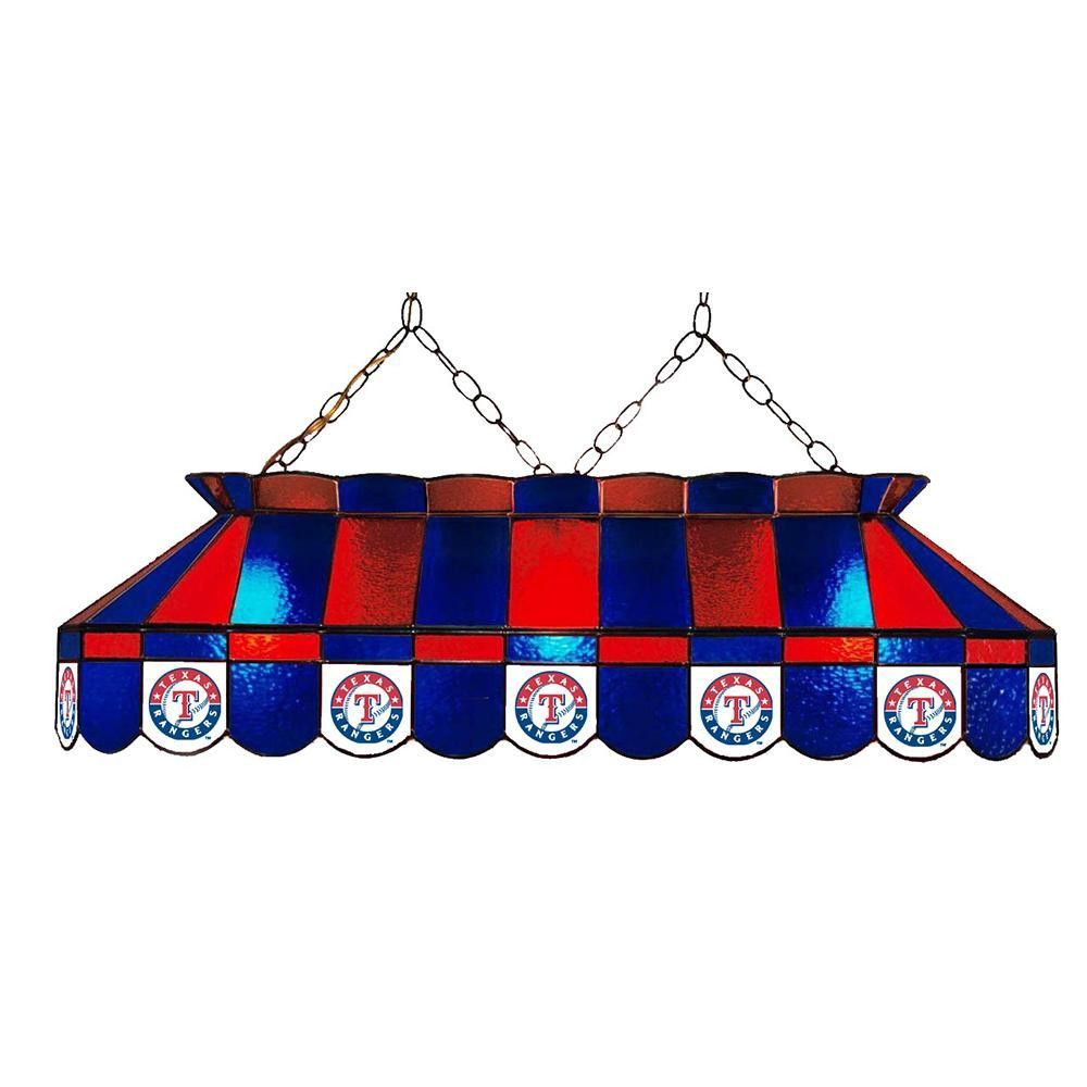 Texas Rangers Mlb 40 Inch Billiards Stained Gl Lamp