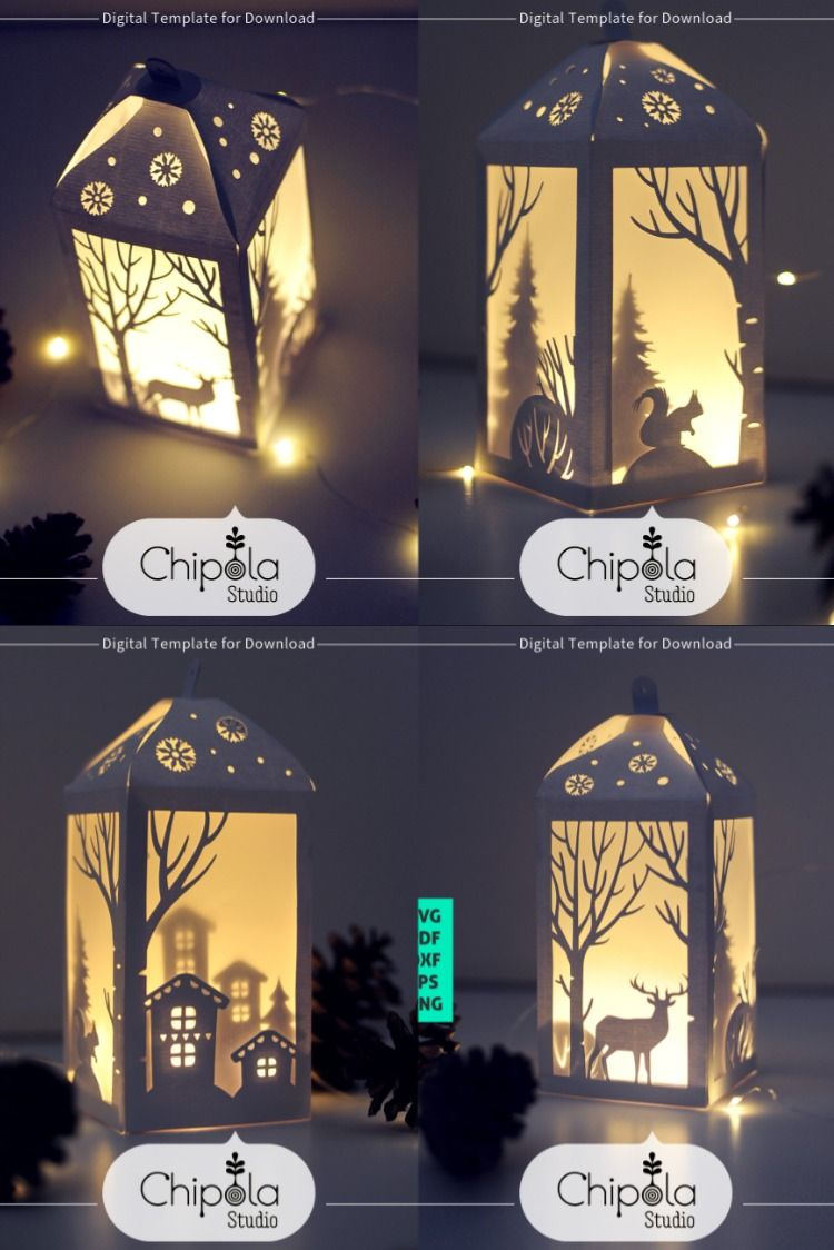 Christmas Decoration Svg 3d Christmas Lantern Paper Model Etsy Christmas Lanterns Christmas Decorations Christmas Paper Crafts