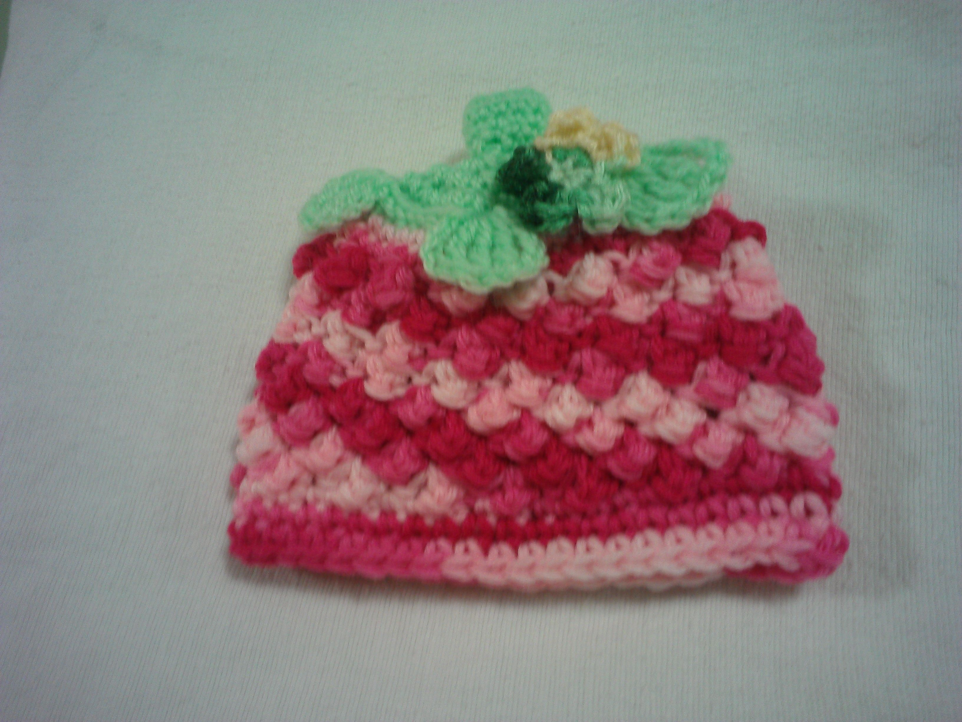 53ebea2bc I call this raspberry baby hat. Made from raspberry stitch with ...